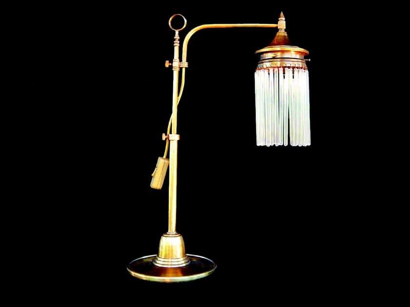 Lampada da tavolo a luce diretta fatta a mano in ottone SOPRON | Lampada da tavolo - Patinas Lighting