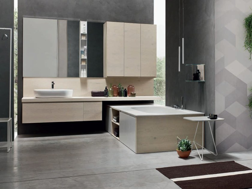 Oak bathroom cabinet / vanity unit SOUL - COMPOSITION 03 - Arcom