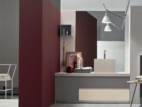 Sistema bagno componibile SOUL - COMPOSIZIONE 07 by Arcom