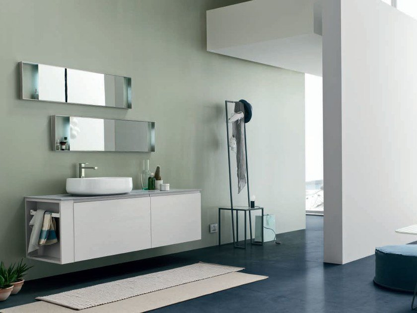 Lacquered single vanity unit SOUL - COMPOSITION 12 by Arcom