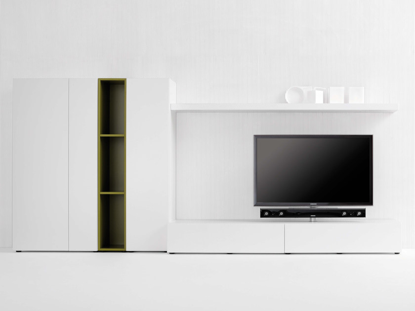 Modular TV cabinet with shelves SOUND SYSTEM | TV cabinet with shelves by Silenia