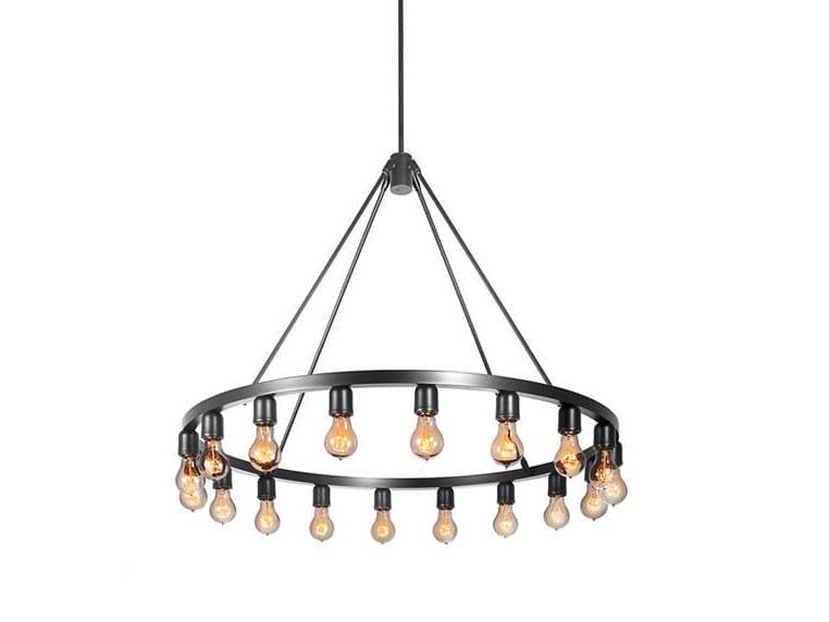 Direct light metal chandelier SPARK 36 - Niche Modern