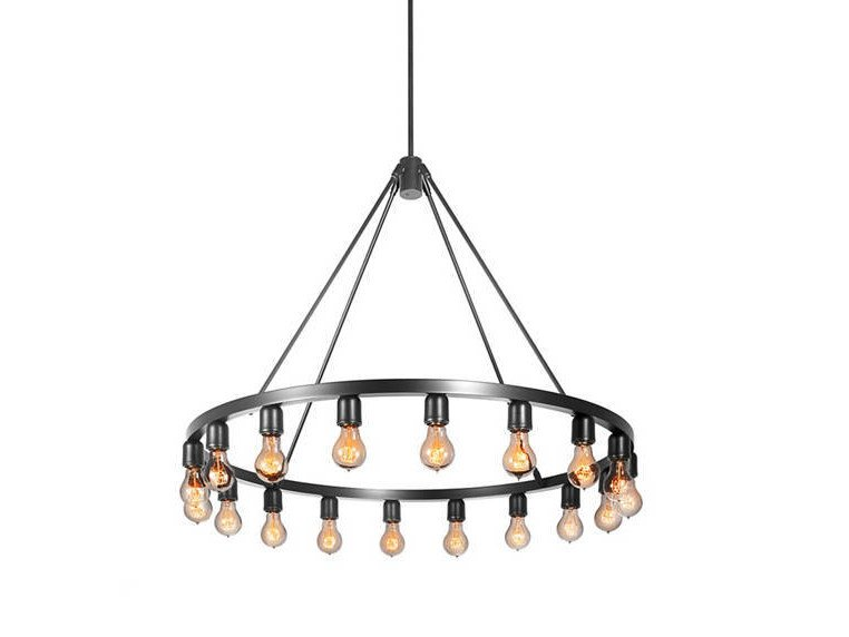 Direct light metal chandelier SPARK 36 by Niche Modern