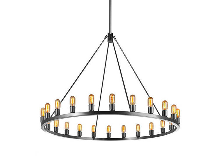 Indirect light direct-indirect light metal chandelier SPARK 60 - Niche Modern