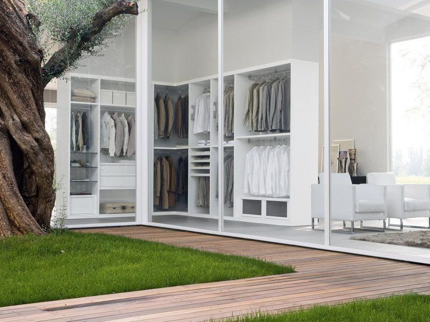 Sectional walk-in wardrobe SPAZIOLAB - Silenia