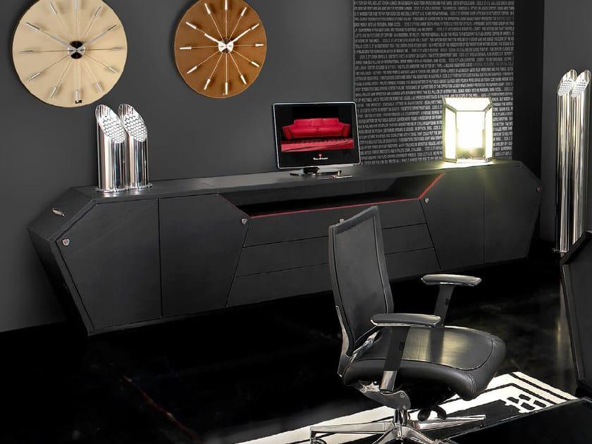 Mobile ufficio basso in pelle di pecora SPIDER   Mobile ufficio by Tonino Lamborghini Casa