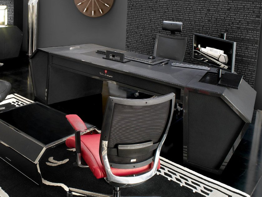 Rectangular carbon fibre office desk with drawers SPIDER | Office desk by Tonino Lamborghini Casa