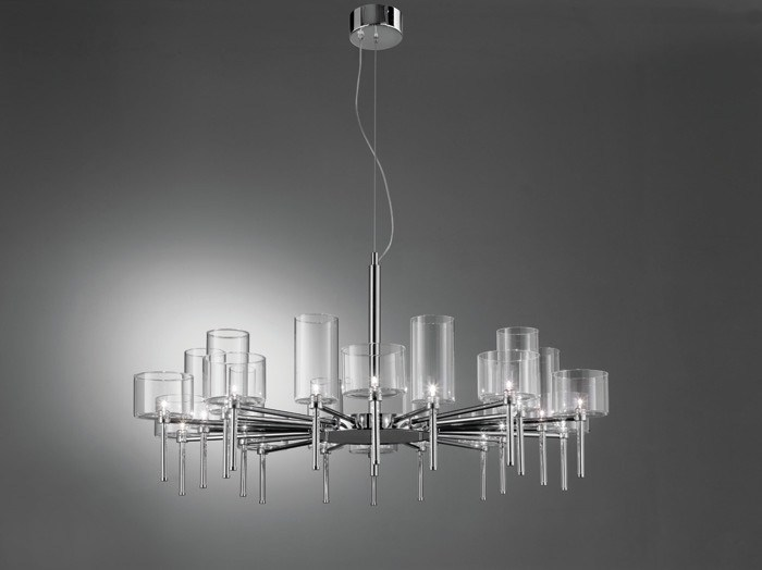 Direct light halogen crystal chandelier SPILLRAY | Chandelier - AXO LIGHT