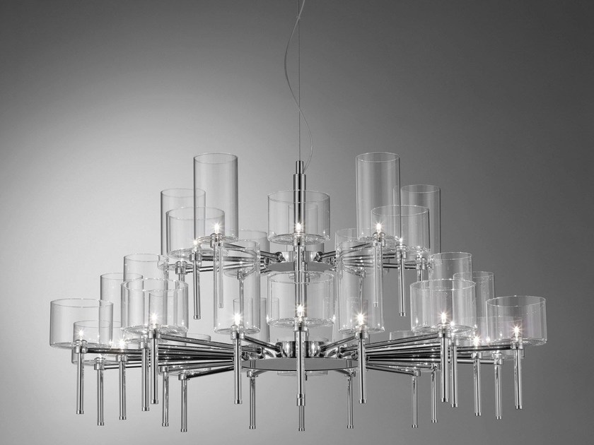 Direct light crystal chandelier SPILLRAY | Direct light pendant lamp - AXO LIGHT