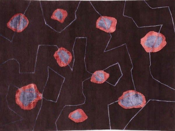 Handmade rectangular rug SPLODGE - Deirdre Dyson