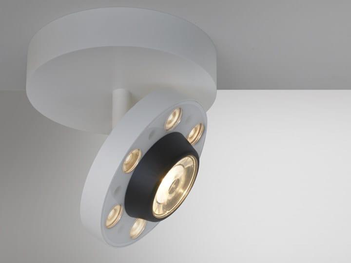 Round aluminium spotlight with fixed arm LOT | Spotlight with fixed arm - Artemide Italia