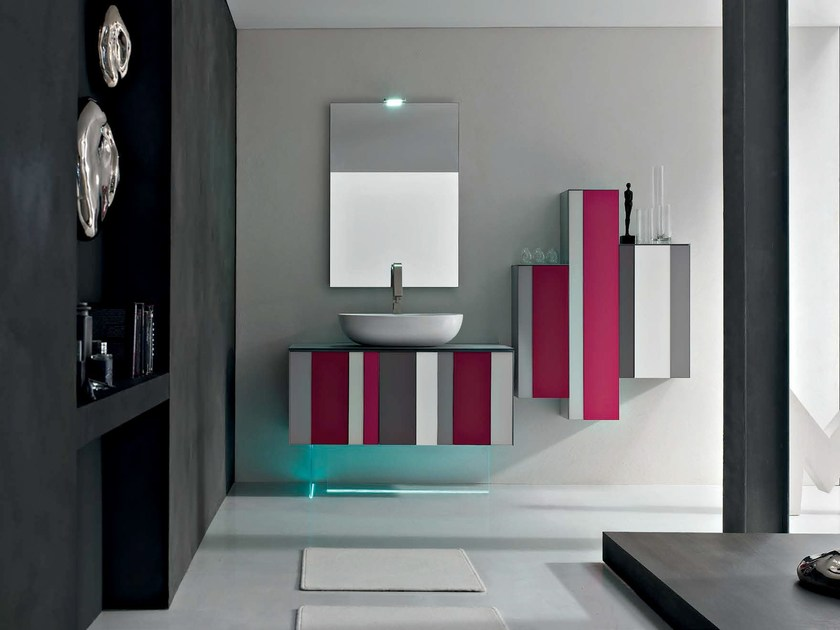 Bathroom cabinet / vanity unit SPRING - COMPOSITION 3 - Arcom
