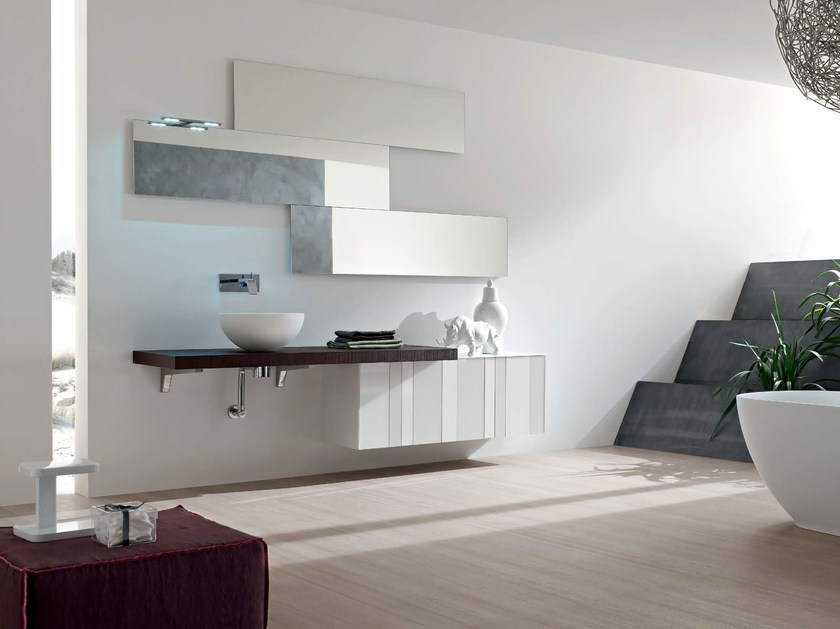 Washbasin countertop / bathroom cabinet SPRING - COMPOSITION 9 - Arcom