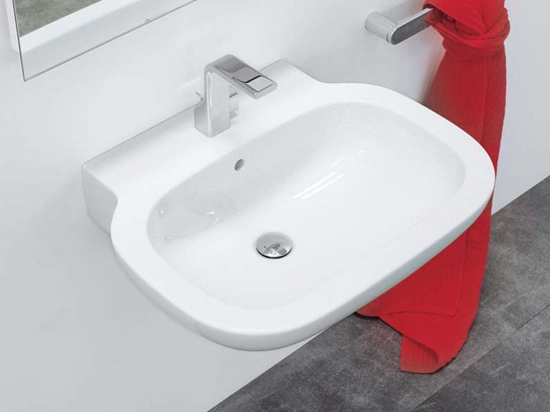 Wall-mounted ceramic washbasin SPRINT 74 | Wall-mounted washbasin - CERAMICA FLAMINIA