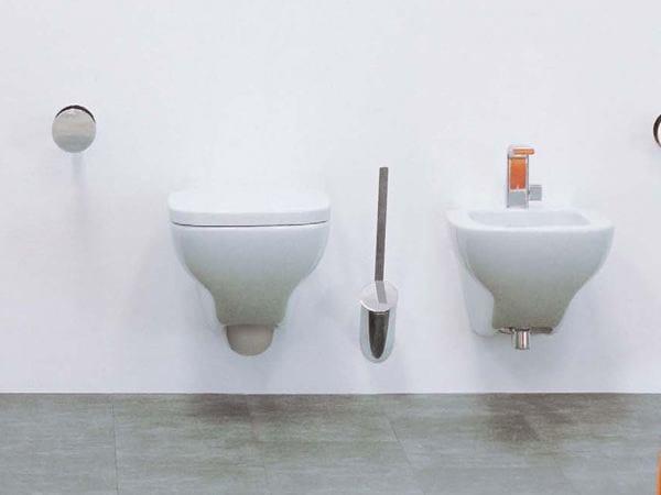 Wall-hung ceramic toilet with bidet SPRINT   Wall-hung toilet with bidet - CERAMICA FLAMINIA