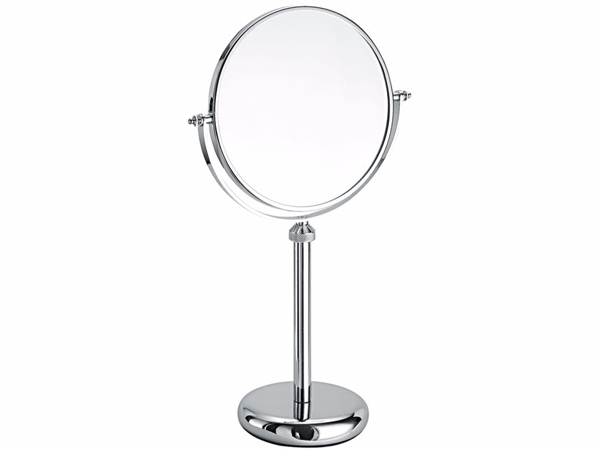 Double-sided round countertop shaving mirror SPUN01A | Shaving mirror - Fir Italia