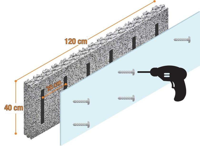Interior insulation system SPYROGRIP® INDOOR - PONTAROLO ENGINEERING