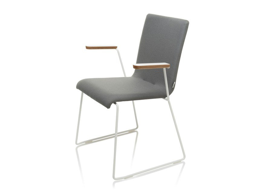 Upholstered chair with armrests SQUARE | Chair with armrests by RIGA CHAIR