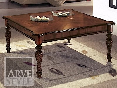 Square solid wood coffee table ATHOS | Square coffee table - Arvestyle