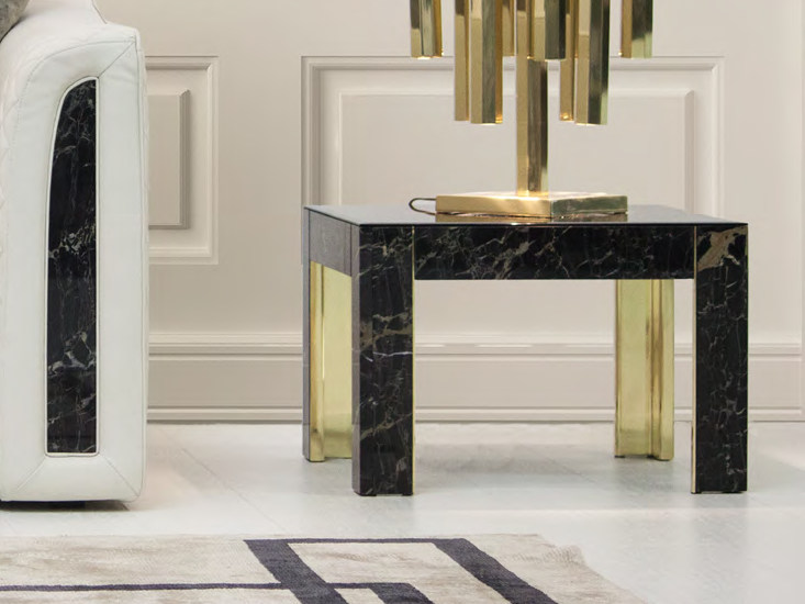 Low square marble coffee table for living room ROYAL | Square coffee table - Formitalia Group