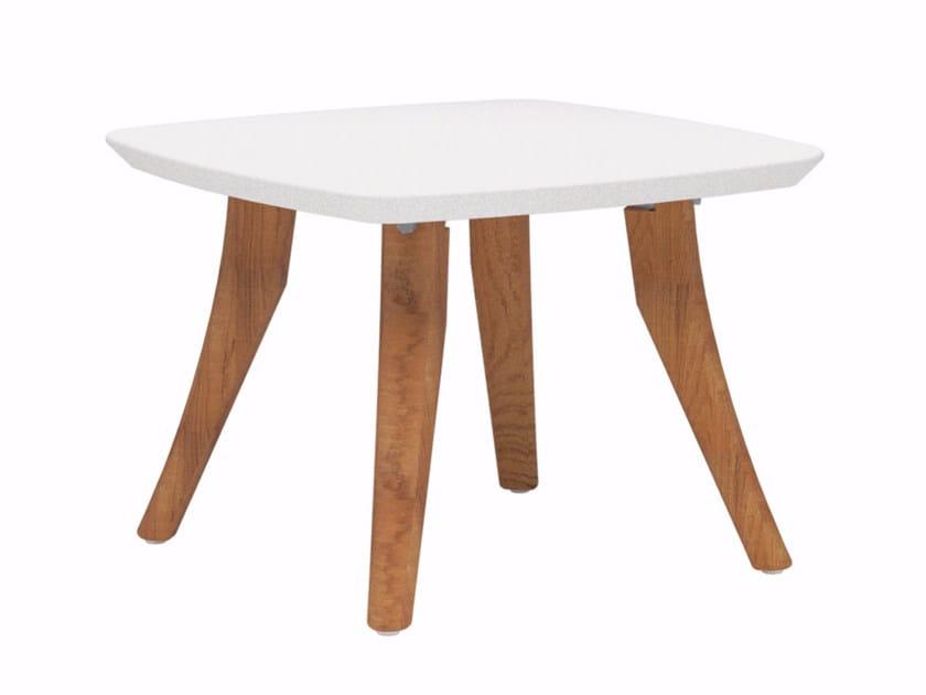 Low square ceramic garden side table ZIDIZ | Square coffee table - ROYAL BOTANIA