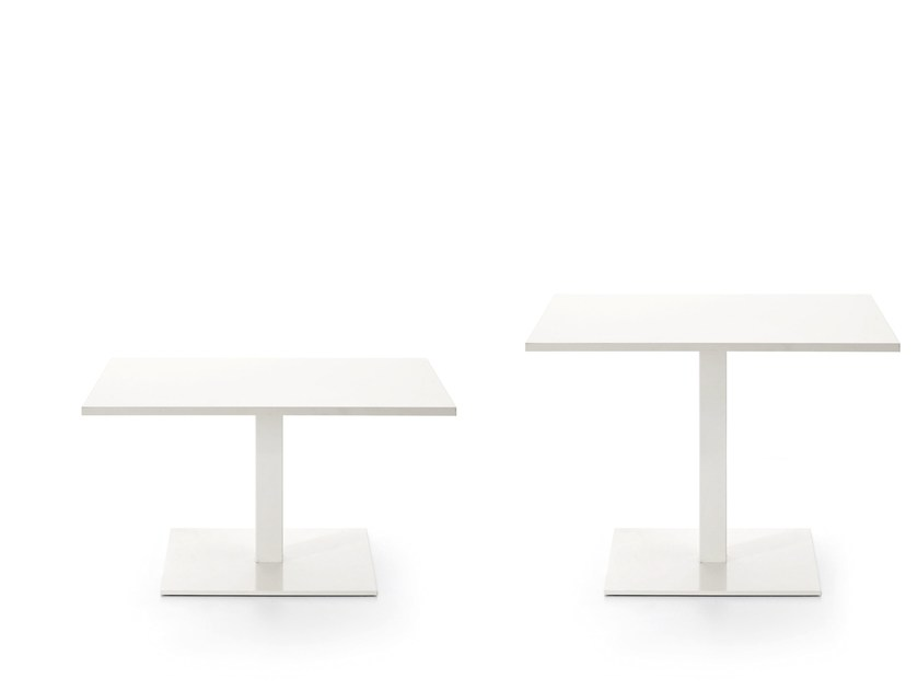 Low square coffee table MULTITASK   Square coffee table by Sinetica