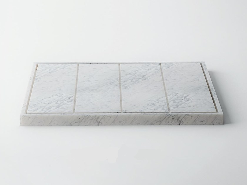 Slatted Carrara marble shower tray SQUARE | Carrara marble shower tray - FILODESIGN di Michela Gerlo & C.