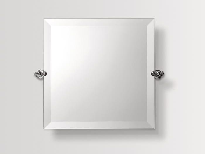Square wall-mounted bathroom mirror SHINING | Square mirror by BATH&BATH