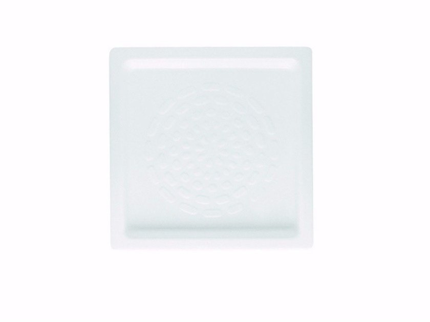 Anti-slip square ceramic shower tray Square shower tray - Hidra Ceramica
