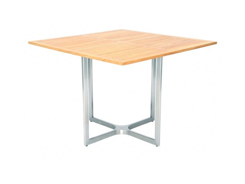 Square steel and wood dining table CITYSCAPE | Square table by 7OCEANS DESIGNS
