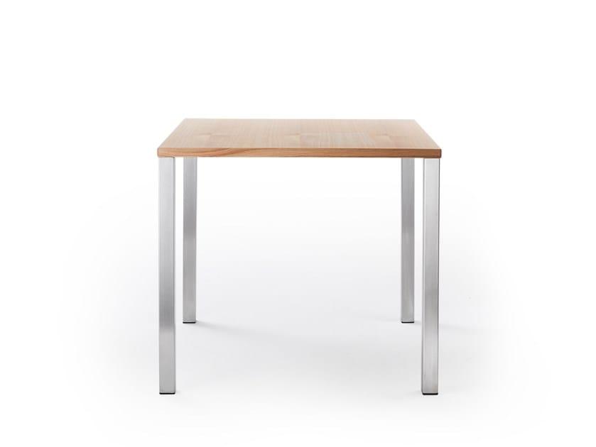 Square laminate table TABULA | Square table by rosconi