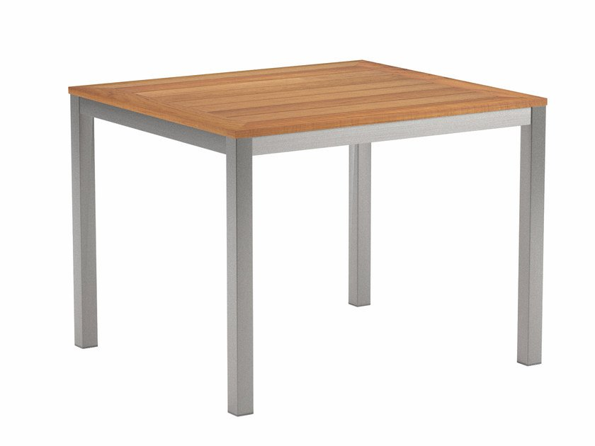 Square teak garden table TABOELA | Square table - ROYAL BOTANIA