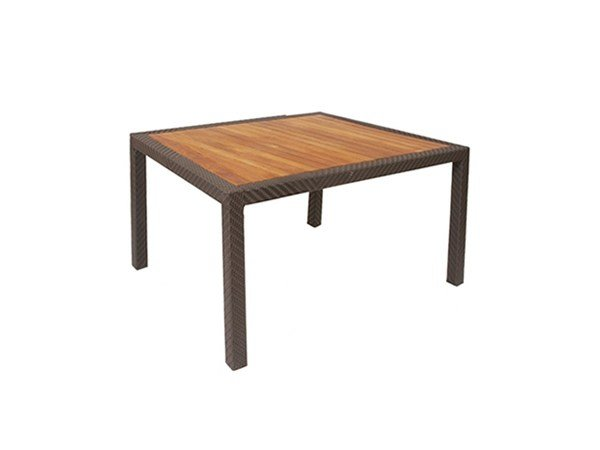 Square teak garden table ALPINE | Square table by 7OCEANS DESIGNS