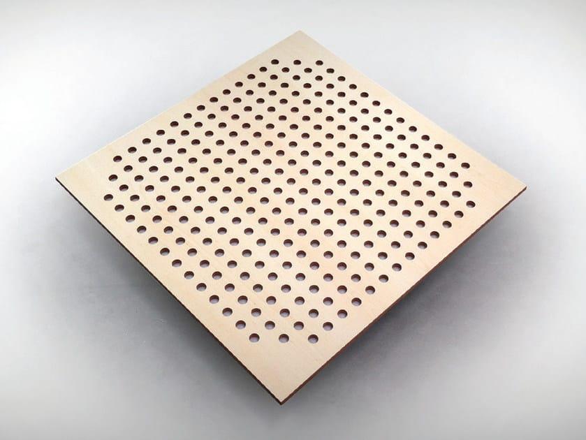 Melamine decorative acoustical panels SQUARE TILE BC TECH - Vicoustic by Exhibo