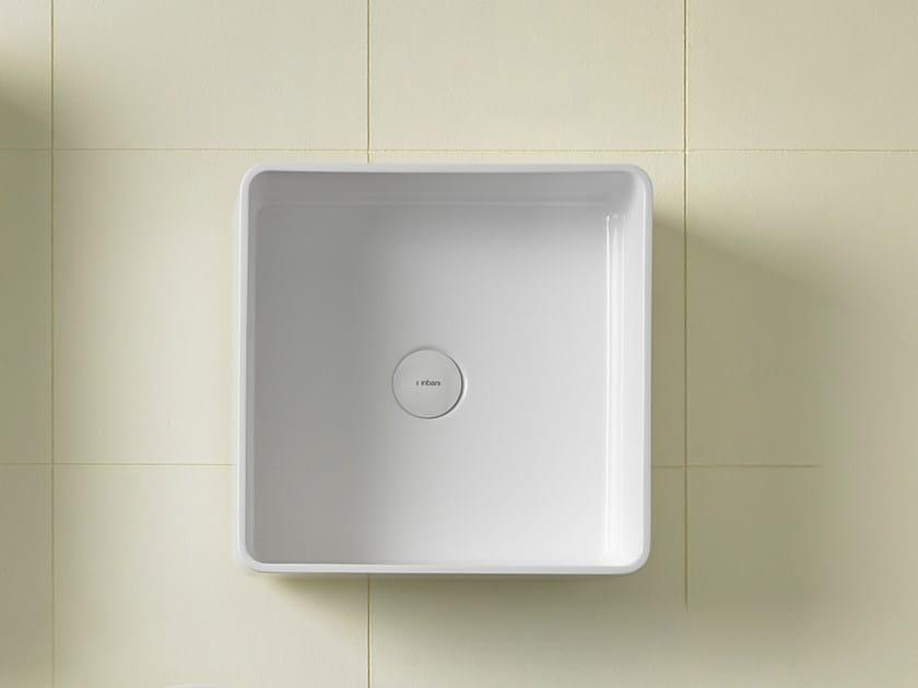 Square Ceramilux® washbasin GLAZE | Square washbasin - INBANI