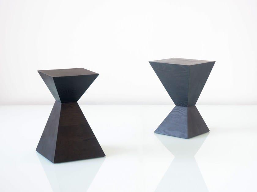 Solid wood stool / coffee table SQUARETOWN by hollis+morris