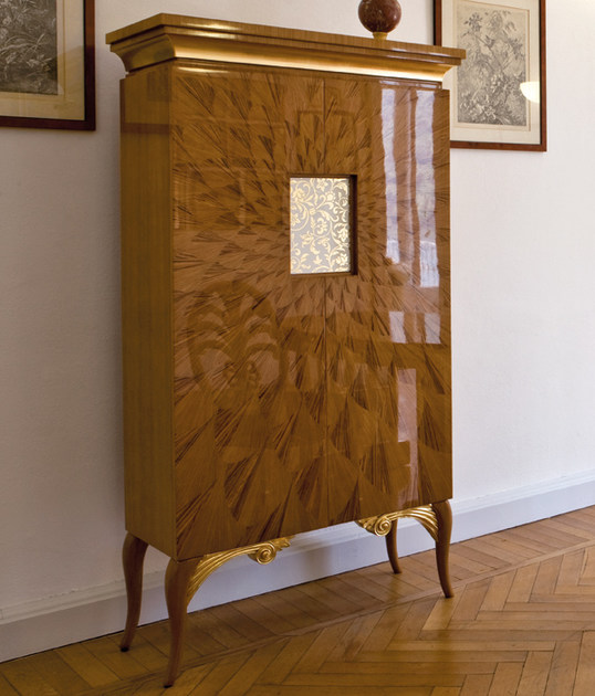 Wooden highboard with doors ST125 | Highboard - Rozzoni Mobili d'Arte