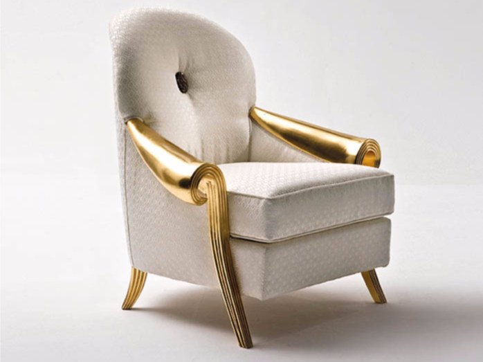 Upholstered fabric armchair with armrests ST132A | Armchair - Rozzoni Mobili d'Arte
