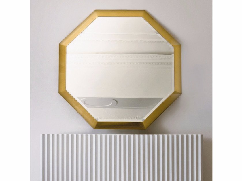 Wall-mounted framed mirror ST141 | Mirror by Rozzoni