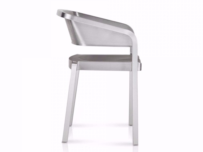 Stackable aluminium chair SOSO | Stackable chair - Emeco
