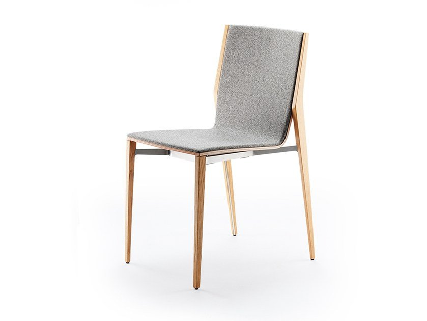 Upholstered stackable fabric chair TENDO | Stackable chair by rosconi