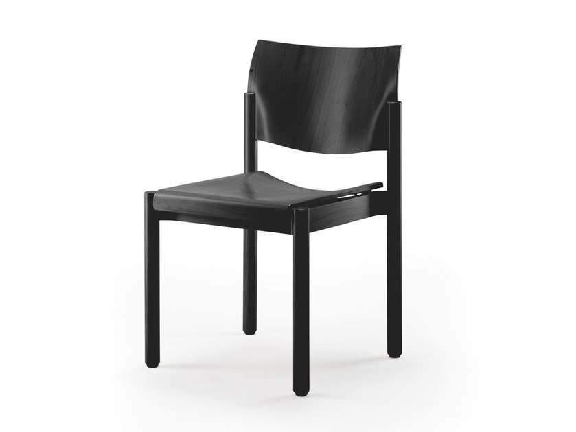 Stackable wooden chair ELENA | Stackable chair by rosconi