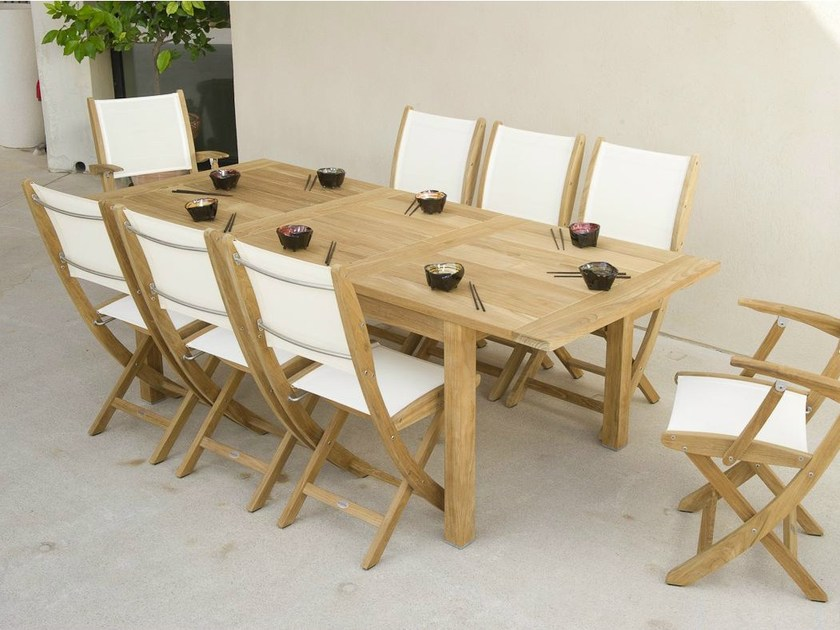 Extending teak garden table STAFFORD | Garden table - Les jardins