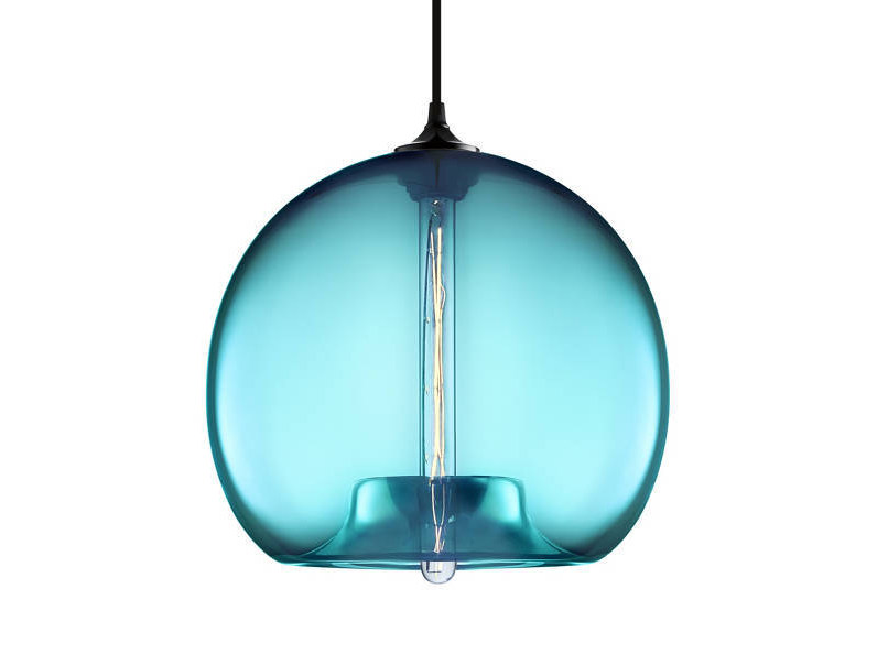 LED handmade blown glass pendant lamp STAMEN by Niche Modern