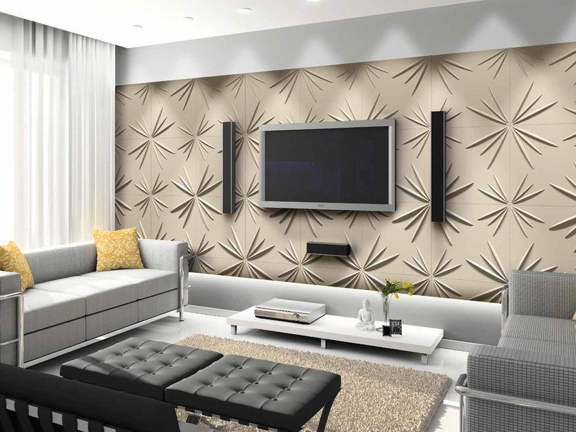 Bamboo fibre 3D Wall Cladding STAR by RECORD - BAGATTINI