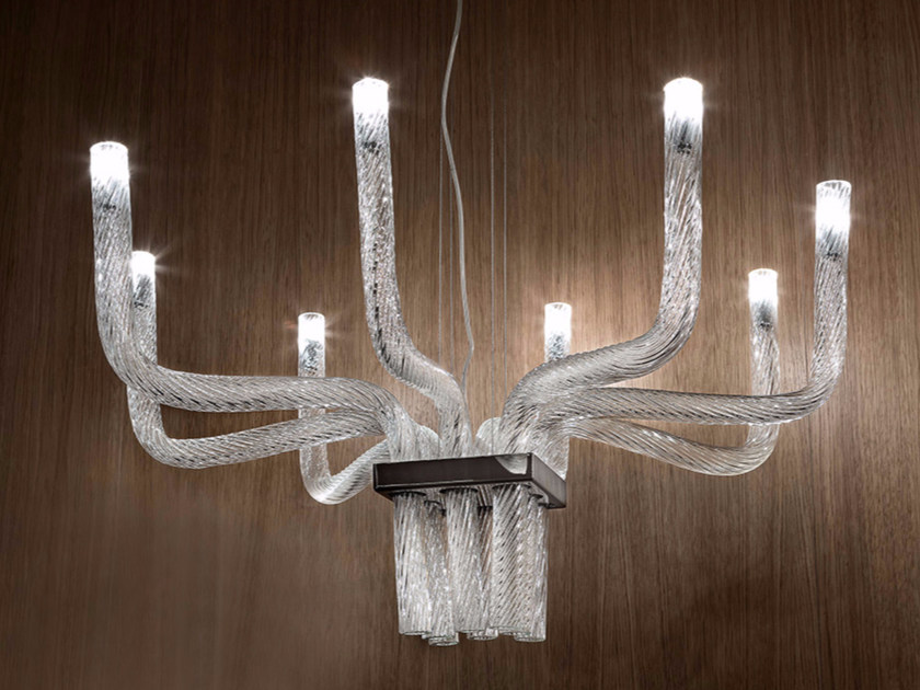 Blown glass pendant lamp STARDUST SP Q by Vetreria Vistosi