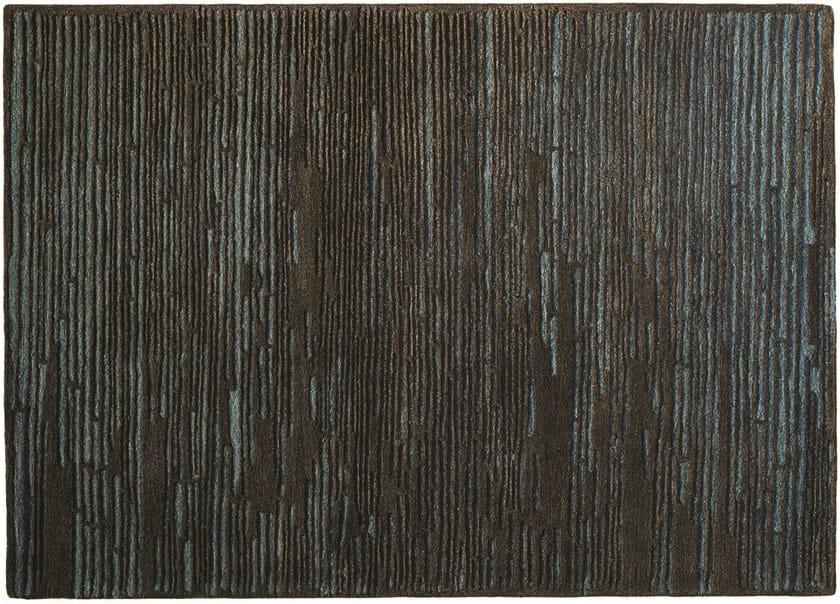Patterned handmade wool rug STATIC - Toulemonde Bochart