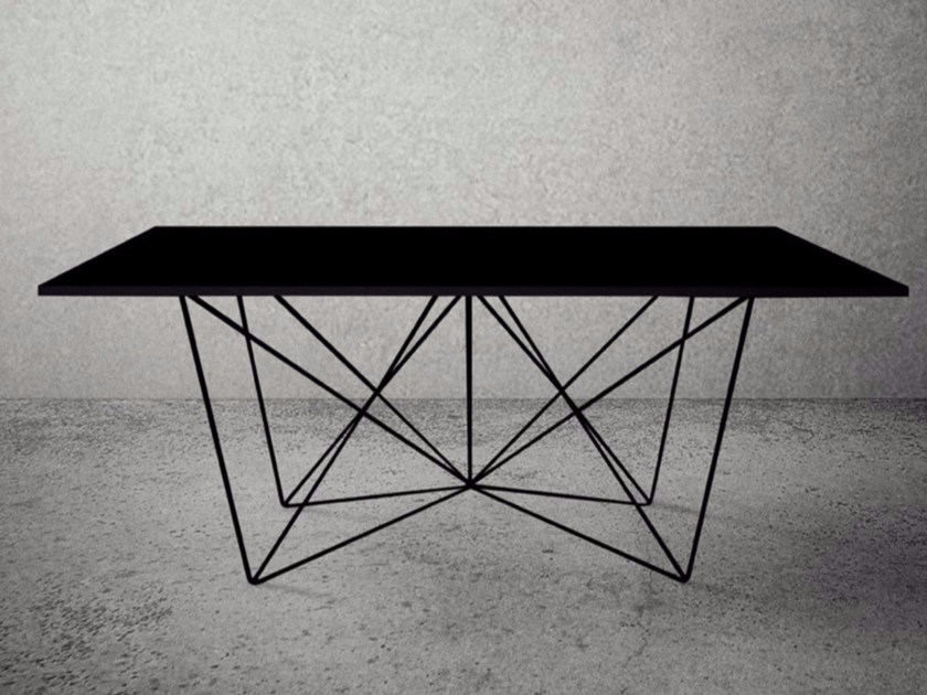 Rectangular steel table STEEL FRAME   Rectangular table by Baltic Promo