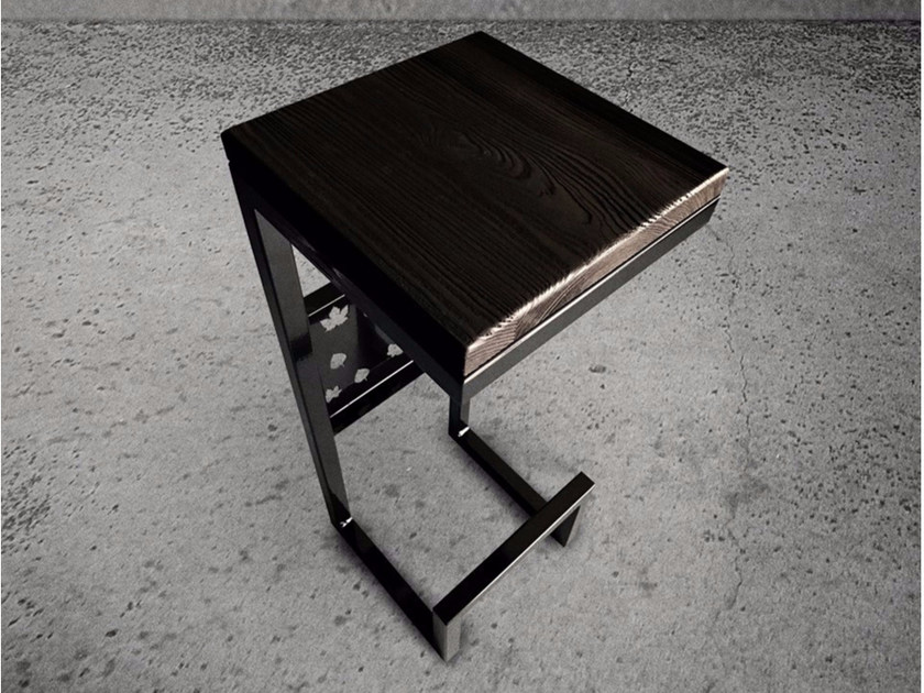 Square steel side table STEEL FRAME | Side table by Baltic Promo