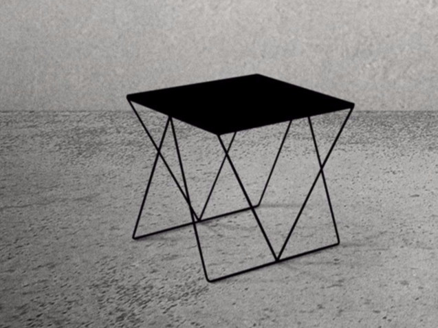 Square steel table STEEL FRAME | Square table by Baltic Promo